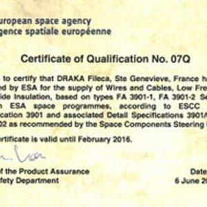 La Agencia Espacial Europea renueva su confianza en Draka Fileca