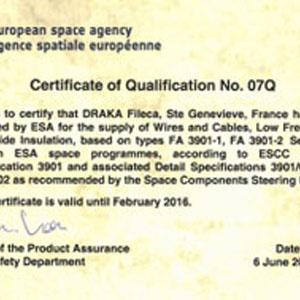 ESA renew its trust to DRAKA Fileca