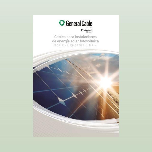 Catálogo para instalaciones de energía solar fotovoltaica