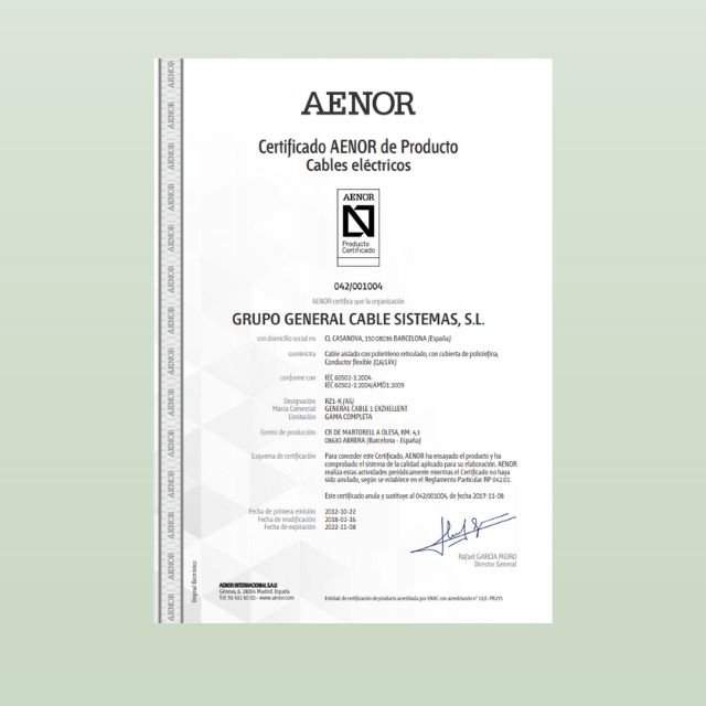 Certificados de Producto GC