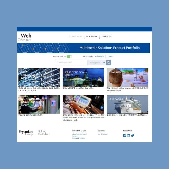 Web Catalogue Draka