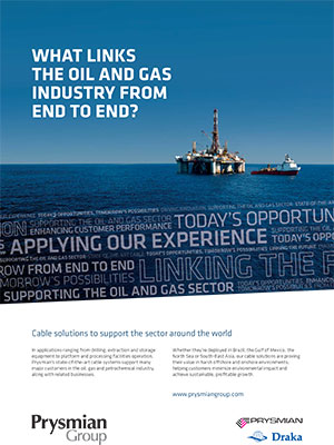 Anuncio Petróleo y gas Prysmian Group