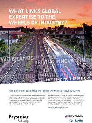 Anuncio Industria ferroviaria y material rodante Prysmian Group
