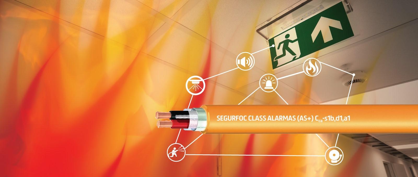 Segurfoc Class Alarmas (AS+): Para conexión de alarmas, megafonía de seguridad, pulsadores y detectores.